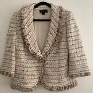 St Johns gold and beige tweed jacket